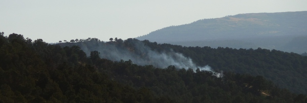 Smoke from controlled burn along CR 2
