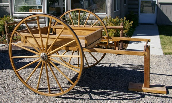 Recreation of a handcart