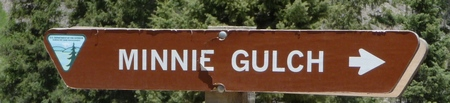 Sign for Minnie Gulch