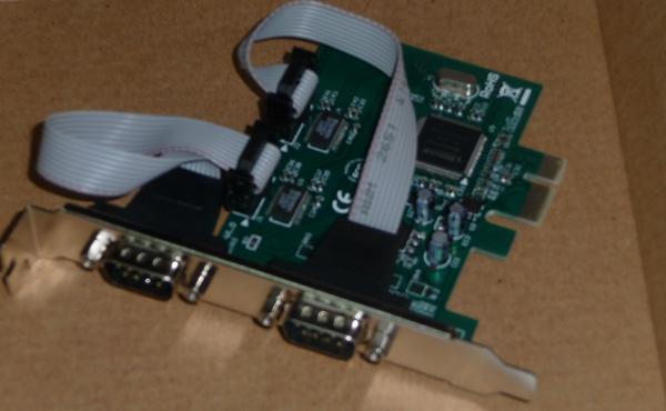 RS-232 adapter card for PC