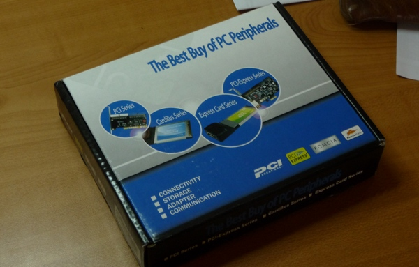 Box for PCIe RS-232 card