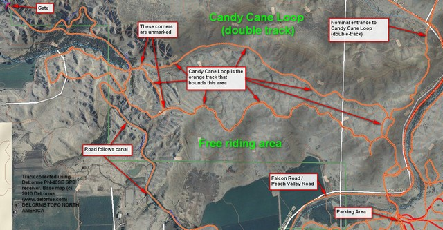 Peach Valley GPS of Candy Cane Loop
