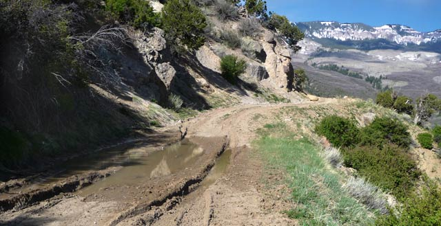 Ouray County Road 4 has this lovely mudhole near its eastern end