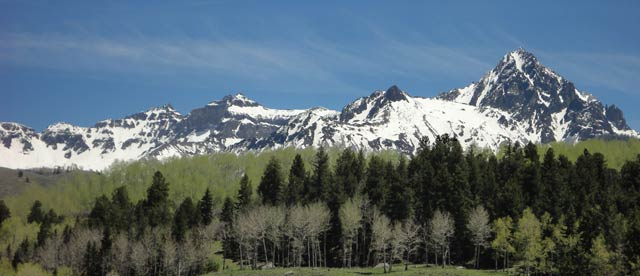 View of Mt. Sneffels from Ouray County Road 9