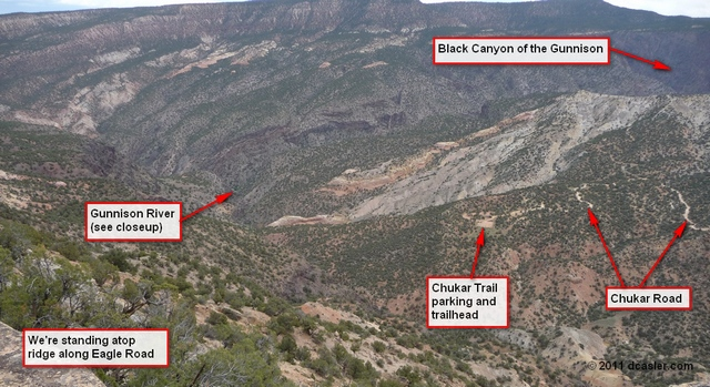 Gunnison River overlook from Eagle Valley Road