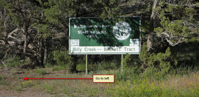 Billy Creek State Wildlife Area Beckett Tract sign