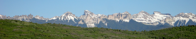 Cimarrons from Ouray County Road 4