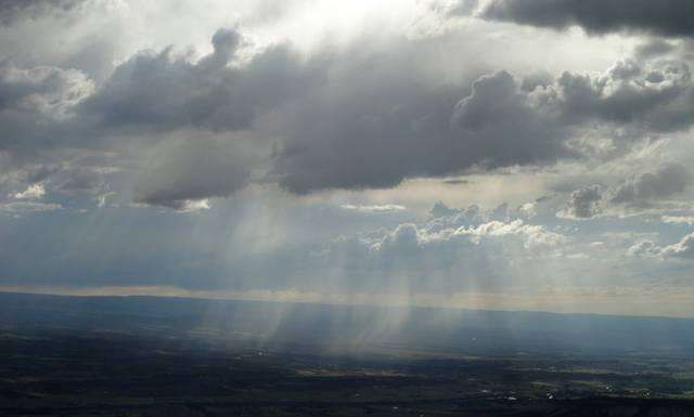 Thundershower over Uncompahgre Valley