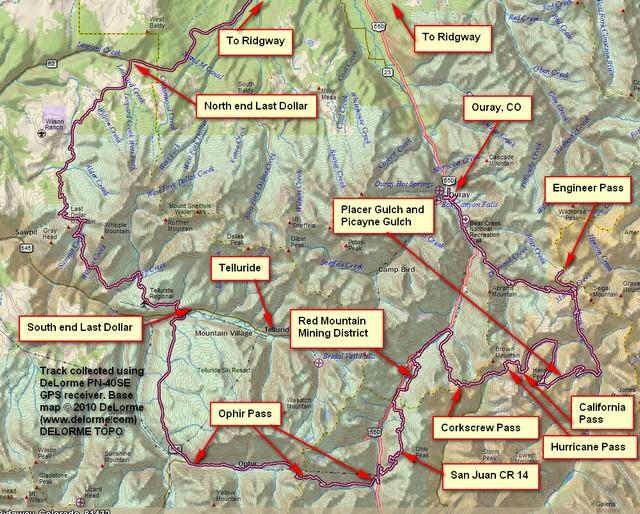 GPS Map Fischer Trip