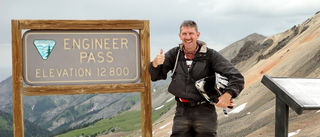 John Fischer at Engineer Pass