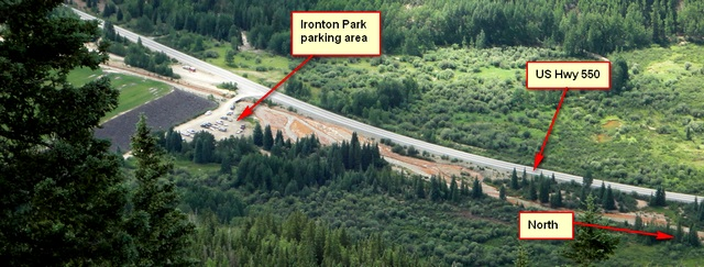 Ironton Park parking area