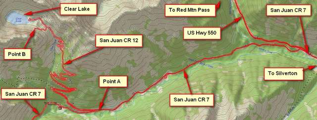 GPS Map for CR 7 and CR 12