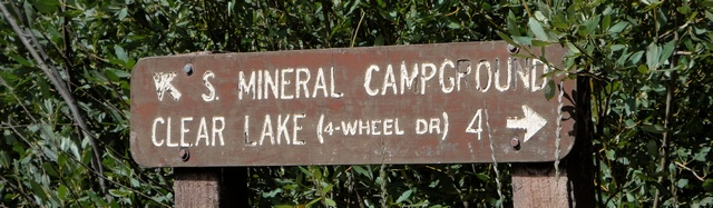 Sign for Clear Lake