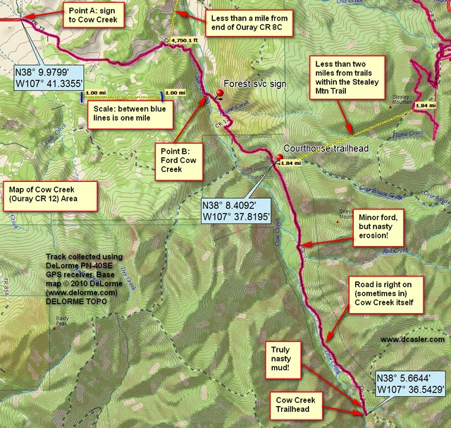 Cow Creek GPS Map