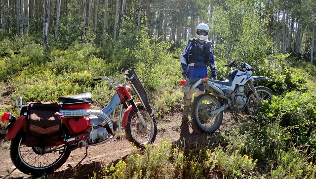 Honda 90 and Yamaha XT-250