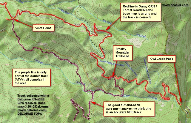 Part of Stealey Mountain Trail Complex