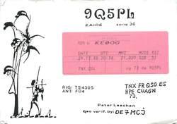 9Q5PL QSL Card