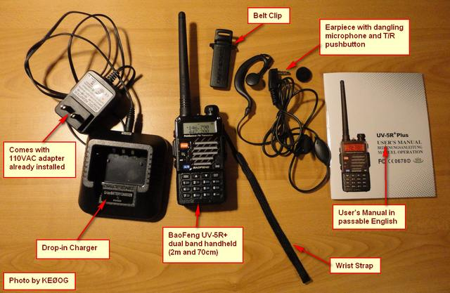 BaoFeng UV-5R+  -- What's in the box