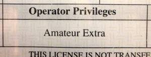 "Yes, it's ""Amateur Extra,"" as you can see from my own license. But everyone just calls it ""Extra."""
