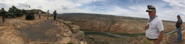 Gunnison River panorama. Click on the picture to see a bigger version.