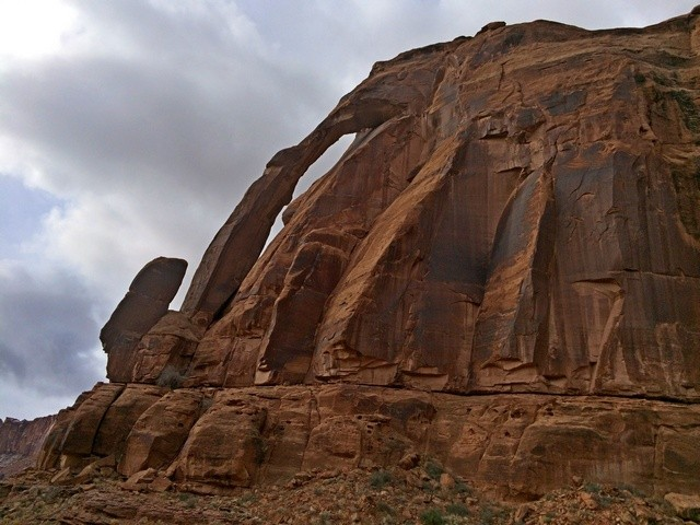 Moab, Potash Road: Jug Handle Arch. You can see why it has the name.
