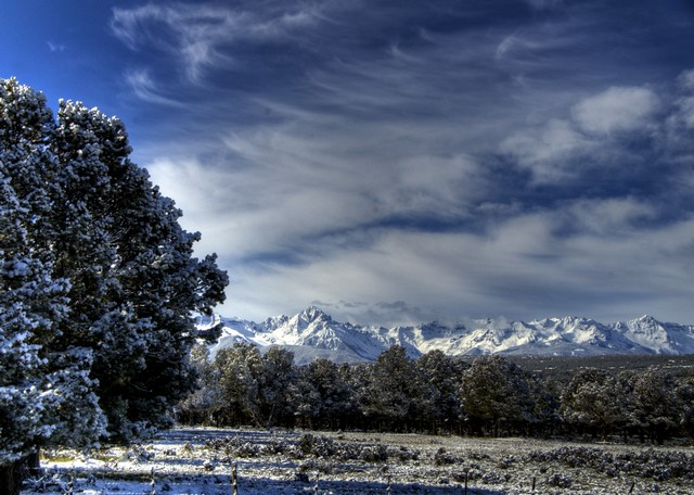 Mt. Sneffels from our dining room. Photo by Dave Casler.